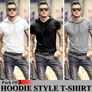 Pack Of 3 Hoodie Style T-Shirt MW200818-1
