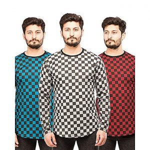 Bundle of 3 Men's Square Boxes T-Shirt MW200818-16