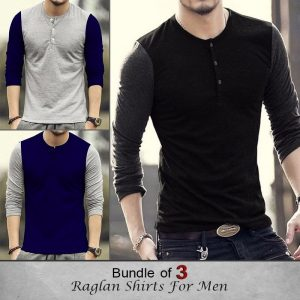 Bundle of 3 Raglan Shirts for men MW200818-19