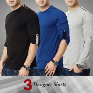 Pack Of 3 Full sleeve Designer T-Shirt MW200818-2