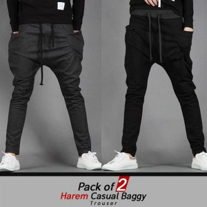 pack of 2 harem casual baggy trousers MW200818-9
