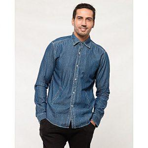 Asset Blue Denim Shirt for Men mw15