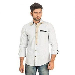 Asset Blue Linen Shirt For Men mw204