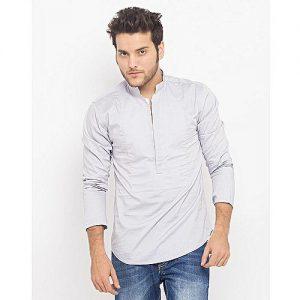 Asset Grey Cotton Kurti For Men MD-604-A mw197