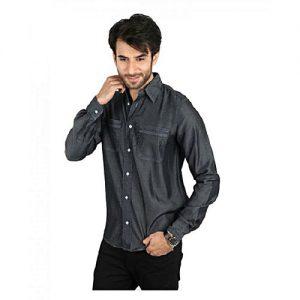 Asset Grey Denim Shirt for Men mw16