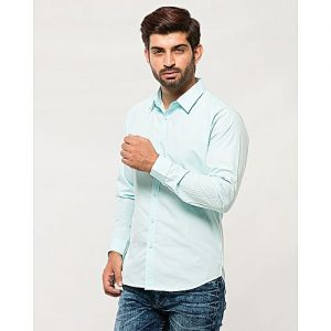 Asset Light Blue - Cotton - Shirt For Men - MD-349 mw27