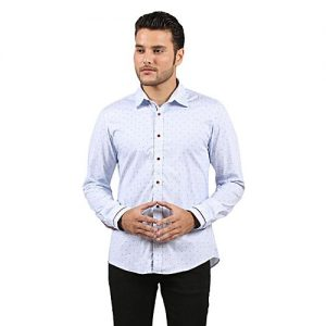 Asset Light Blue Cotton Shirt for Men mw107
