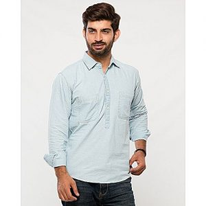 Asset Light Blue Denim Shirt for Men mw187