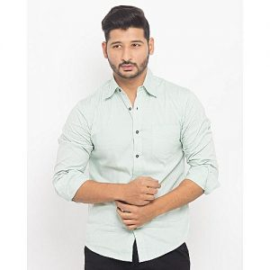 Asset Light Green Casual Shirt For Men mw139