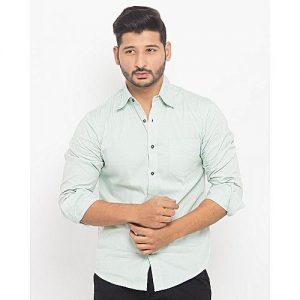 Asset Light Green Casual Shirt For Men mw139