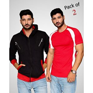 Aybeez PACK OF 2 HOODIE & RAGLAN T-SHIRT FOR MEN mw123