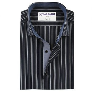 YNG Empire Black Egyptian Cotton Shirt For Men mw65
