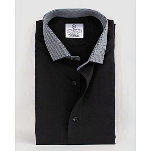 YNG Empire Black Premium Cotton Formal Shirt for Men mw81
