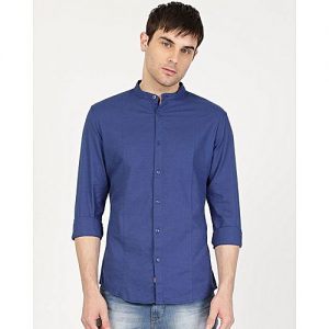 YNG Empire Blue Cotton Casual Shirt For Men mw31