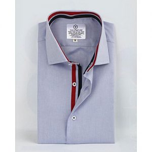 YNG Empire Blue Premium Cotton Formal Shirt for Men mw42