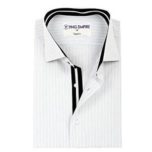 YNG Empire Grey Egyptian Cotton Shirt For Men mw1