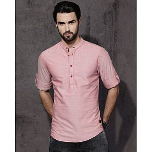 YNG Empire Men Pink Regular Fit Solid Casual Shirt mw28