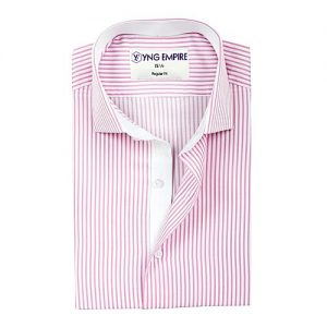 YNG Empire Pink Egyptian Cotton Shirt For Men mw5