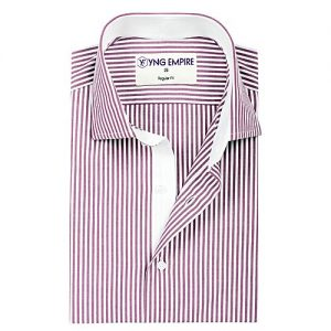 YNG Empire Pink Egyptian Cotton Shirt For Men mw61