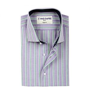 YNG Empire Purple Egyptian Cotton Shirt For Men mw128