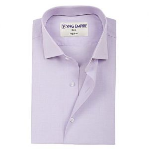 YNG Empire Purple Egyptian Cotton Shirt For Men mw54