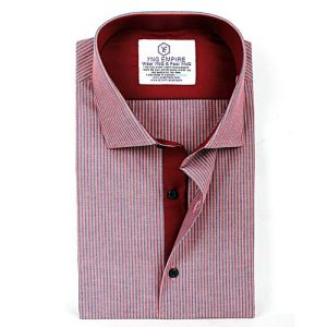 YNG Empire Red Egyptian Cotton Shirt For Men mw36