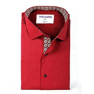 YNG Empire Red Premium Egyptian Cotton Shirt for Men mw85