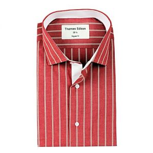 YNG Empire Red Striped Premium Egyptian Cotton Shirt for Men mw47