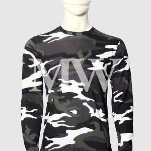Men's Military Style dark camouflage Printed Full Sleeve T-shirt