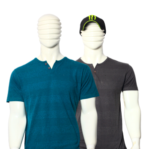 PACK OF 2 MEN'S MULTICOLOR STRIPES COTTON T-SHIRTS