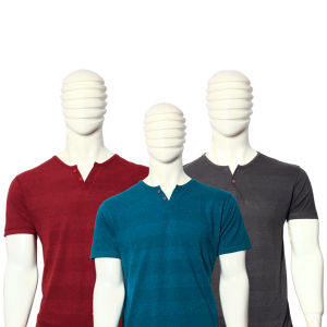 PACK OF 3 MEN'S MULTICOLOR STRIPES COTTON T-SHIRTS