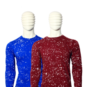 Bundle Of 2 Men's Multicolor Cotton Paint Dotted T-shirt With Full Sleeve