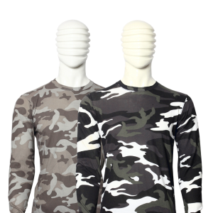 BUNDLE OF 2 MILITARY STYLE DARK CAMOUFLAGE PRINTED FULL SLEEVE T-SHIRT