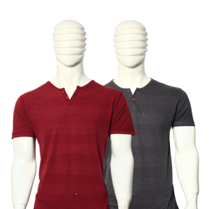 PACK OF 2 MEN'S MULTICOLOR STRIPES COTTON T-SHIRTS MWF25092018