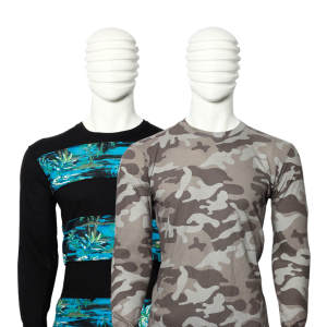 PACK OF 2 MEN'S MULTICOLOR COTTON PRINTED T-SHIRTS WITH FULL SLEEVES
