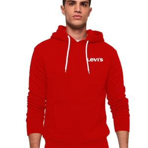 Men's Kangroo Stylish Red Hoodie Levis