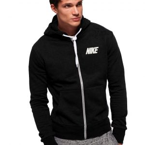 Men's Stylish Black Zipper Hoodie Nike