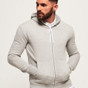 Men's Stylish Grey Zipper Hoodie