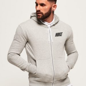 Men's Stylish Grey Zipper Hoodie Nike