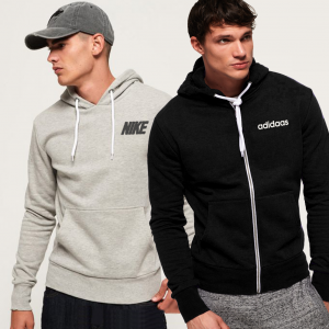 Pack Of 2 Men's Hoodies in Black and Grey