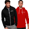 Pack Of 2 Men's Hoodies in Black and Red