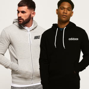 Pack Of 2 Men's Hoodies in Light Grey And Black