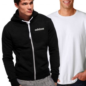 Pack Of 2 Men's Hoodies in Blue And Black