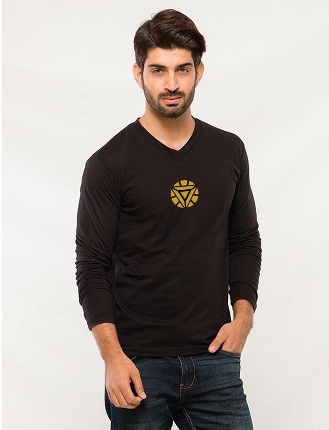 78abcf5a Black Iron Man Printed Full Sleeves T shirt mw510 - Menswear.pk