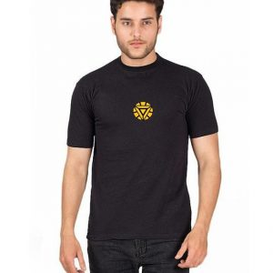 Black Round Neck Half Sleeves Iron Man Printed T shirt mw84