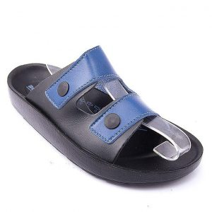 Blue Synthetic Leather Sandals For Men mw96