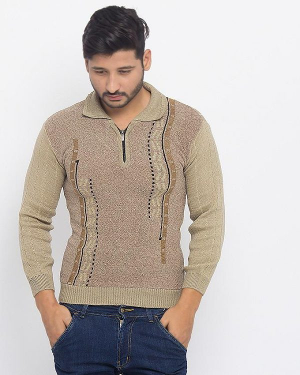 Brown Mix Cotton Sweater - RS-1 mw13