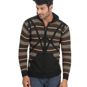 Brown Wool Lining Sweater For Men mw24
