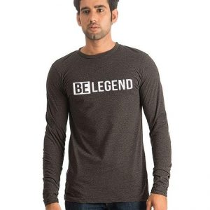 Charcoal BE Legend Printed T shirt For him mw100