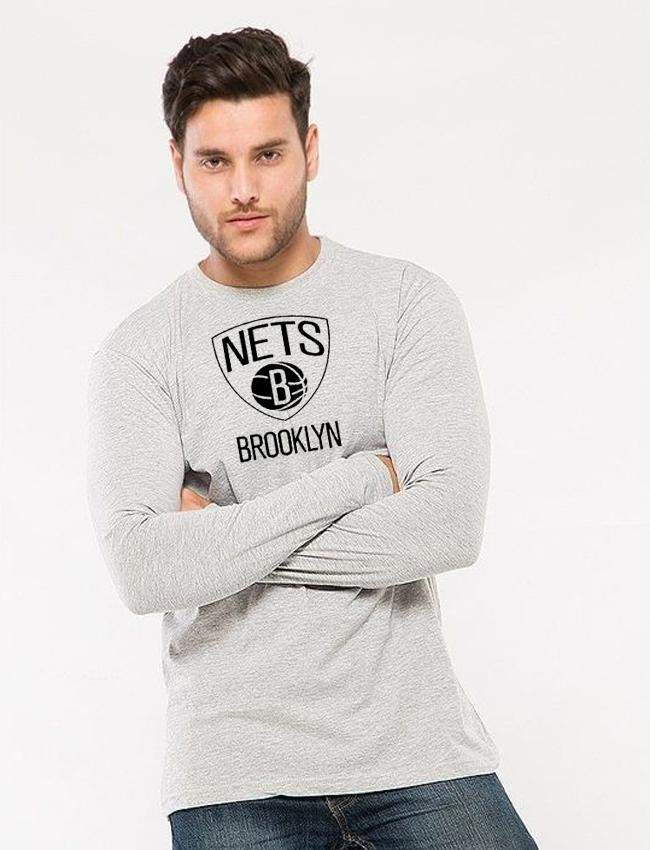 e5c3faf3 Heather Grey Brooklyn Printed T shirt For him mw433 - Menswear.pk